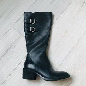 Woman's Born Basil Tall Leather Boots Size 5M